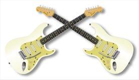 Tweelinggitaren Royalty-vrije Stock Foto
