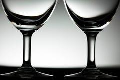Tweelingglas van water dichte omhooggaand Stock Foto