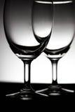 Tweelingglas van water dichte omhooggaand Royalty-vrije Stock Fotografie