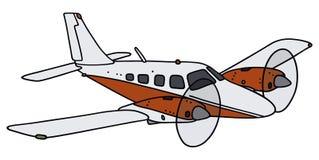 Tweelingmotorvliegtuig Stock Afbeeldingen