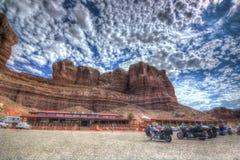Tweelingrotsen Moab Royalty-vrije Stock Foto's