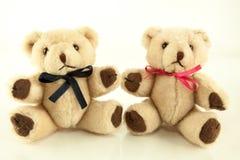 Tweelingteddy bear stuffed toys Stock Fotografie