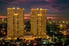 Tweelingtoren, Djakarta Royalty-vrije Stock Fotografie