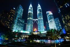 Tweelingtoren in Kuala Lumper, Maleisië stock afbeeldingen