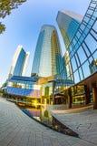 Tweelingtorens Deutsche Bank I en II in Frankfurt. Stock Fotografie