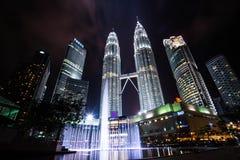 Tweelingtorens in Kuala Lumpur, de langste gebouwen in Maleisië Stock Afbeelding