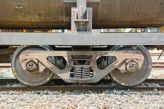 Tweelingwiel van de trein Stock Foto