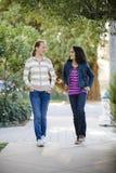tween δύο κοριτσιών που περπα&ta Στοκ φωτογραφίες με δικαίωμα ελεύθερης χρήσης