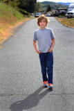 Tween Boy on a Stroll Stock Photo