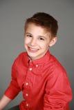 Tween chłopiec ono uśmiecha się Zdjęcie Stock