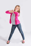 Tween girl dancing Royalty Free Stock Photo