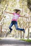 Tween Girl Jumping Royalty Free Stock Images