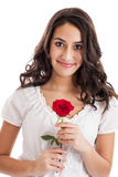 Tween girl with rose Stock Photos