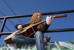 Tween with Guitar Stock Photos