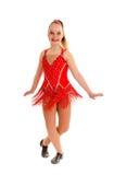 Tween Jazz Dancer i rött Royaltyfria Bilder