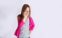 Tween na telefonie komórkowym Fotografia Stock
