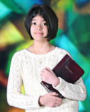 Tween Ready for Worship Stock Image
