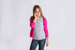 Tween talking on the phone Royalty Free Stock Image