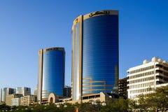 Tween torens in Doubai Stock Afbeeldingen