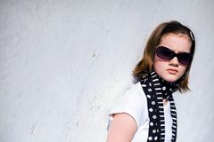 Tween By a Wall royalty free stock photo