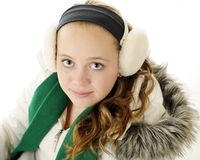 Tween-Winter-Portrait Lizenzfreie Stockbilder