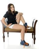 Tweenage большая нога Стоковые Фото