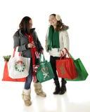 Tweens ontmoeten het Winkelen van Kerstmis Stock Afbeeldingen