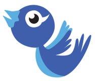 Tweet bird cartoon vector. In eps10 Royalty Free Stock Images