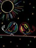 Tweet birds sketch Stock Photos
