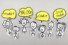 Tweet Blog Chat Social Media Royalty Free Stock Photos