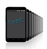 Tweet on the Display Royalty Free Stock Photos