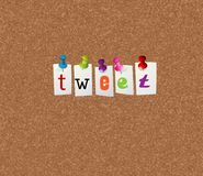 Tweet notice concept Stock Images