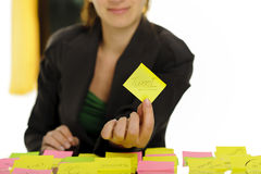 Tweet on sticky note Royalty Free Stock Photos