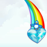 Tweet-Welt Lizenzfreies Stockfoto