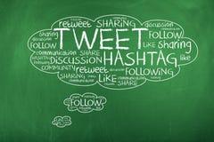 Tweet Word Cloud Stock Photo