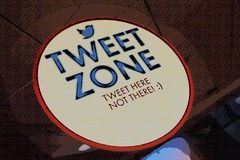 Tweet Zone Royalty Free Stock Photography