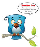 Tweeter Blue Bird Happy Royalty Free Stock Image