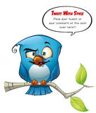 Tweeter Blue Bird Smarty Stock Image