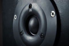 Tweeter. Close up shot of tweeter speaker Royalty Free Stock Image