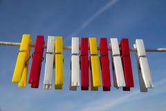Tweezers for clothes Stock Image