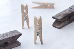 Tweezers and clothespins Royalty Free Stock Images