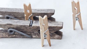 Tweezers and clothespins Stock Images