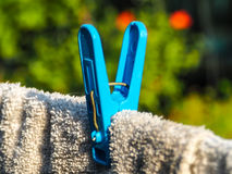 Tweezers. The mood of the clothespin Royalty Free Stock Photo