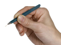Tweezers and splinter Royalty Free Stock Images