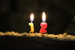 Twelfth birthday Royalty Free Stock Photos