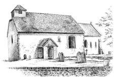 Twelfth century church Stock Photos