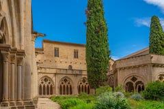 The twelfth century Cistercian monastery of Santa Maria de Poblet, Catalonia.
