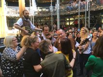 Twelfth Night Pop-up Globe Amphitheatre Auckland Stock Image