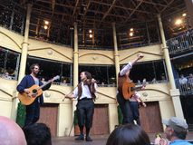 Twelfth Night Pop-up Globe Amphitheatre Auckland Royalty Free Stock Photos
