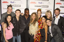 Twelve American Idol Finalists. Twelve finalists of television's American Idol attend star studded Celebrity Fight Night on March 19, 2001, at the JW Marriott Stock Photo